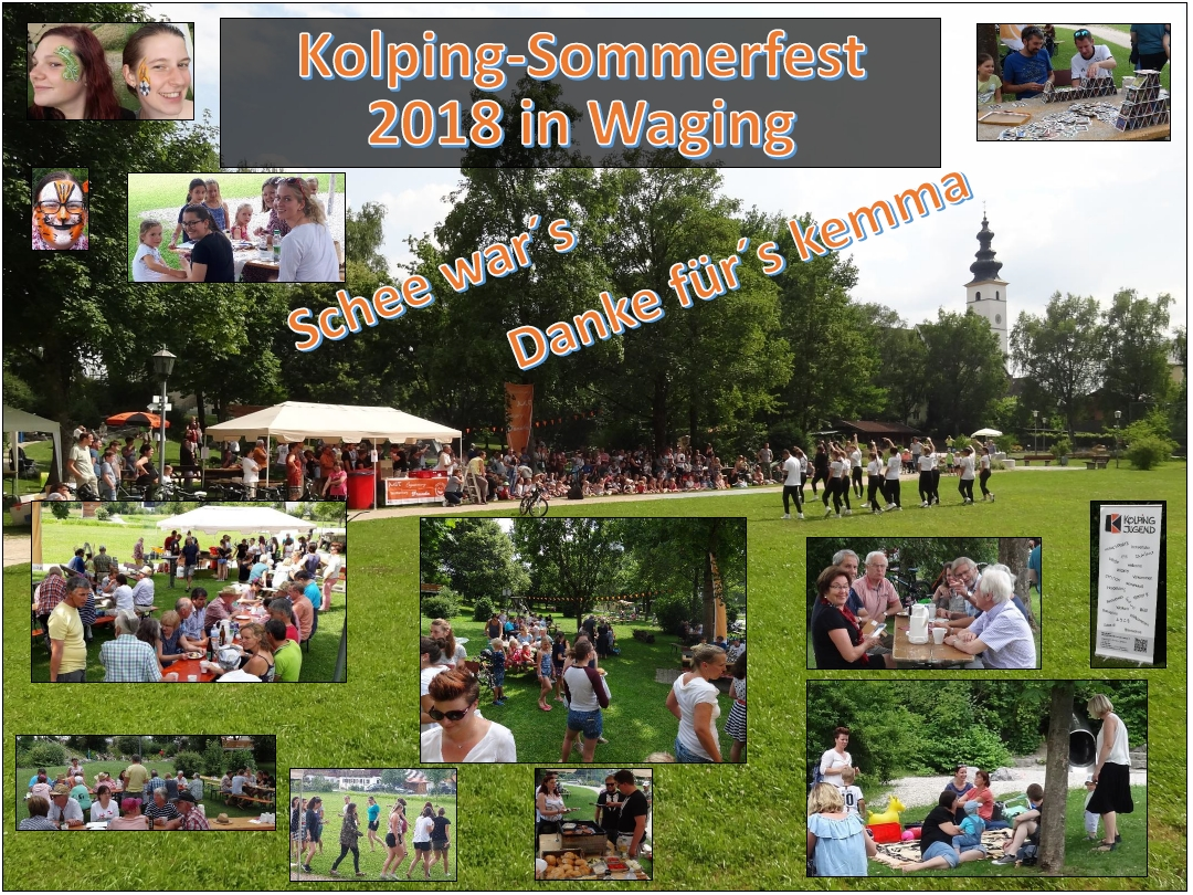 Collage des Sommerfestes 2018 in Waging